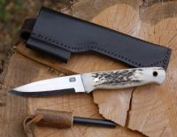 A. Wright & Son 701 Stag Handled Bushcraft Knife with TBS Firesteel